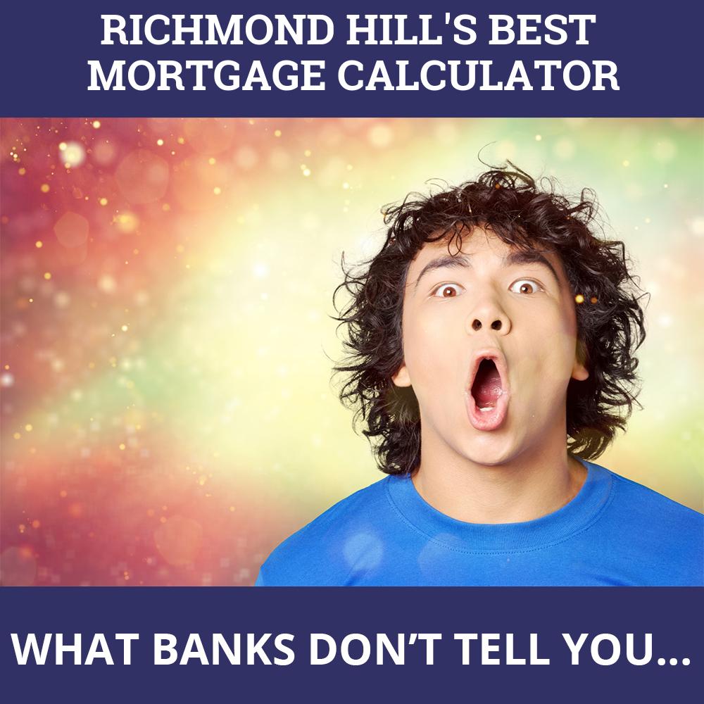 Mortgage Calculator Richmond Hill ON
