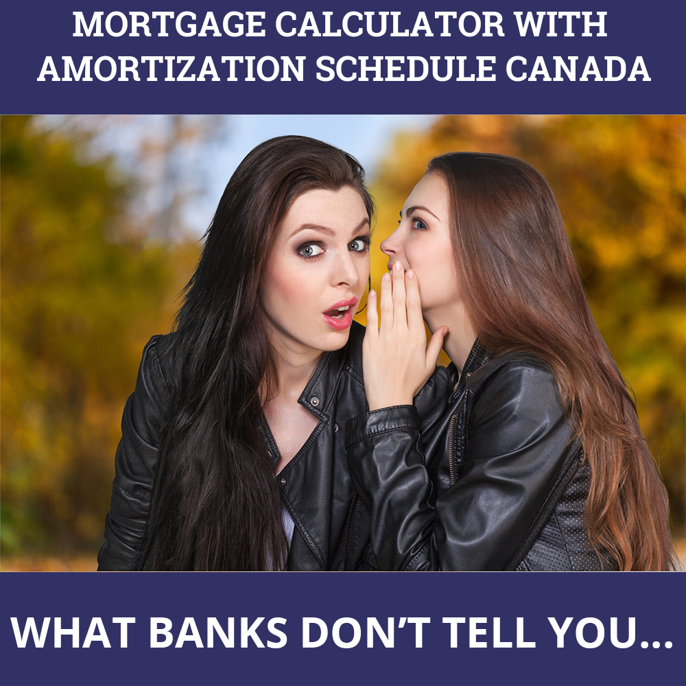 Mortgage Calculator With Amortization Schedule Canada