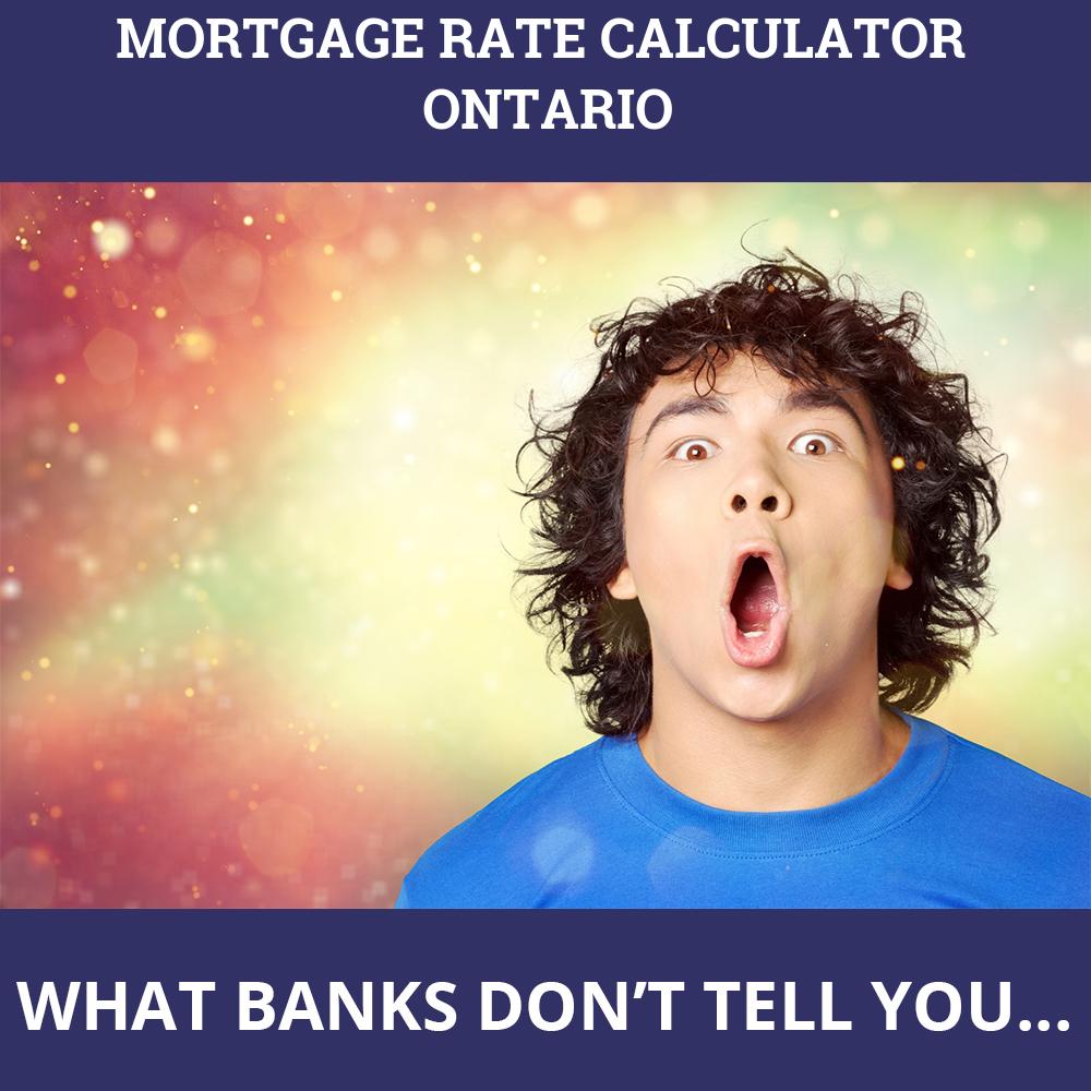 Mortgage Rate Calculator Ontario